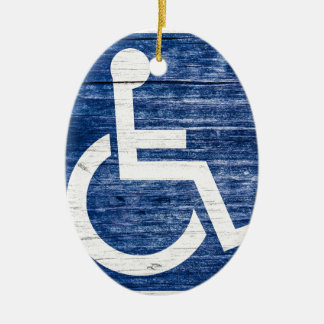 International Symbol of Access Ceramic Ornament
