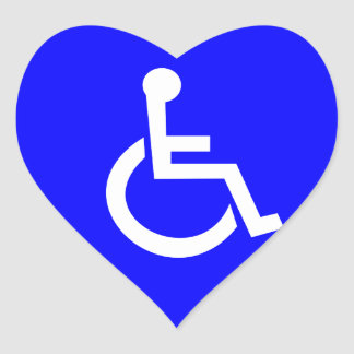 International symbol of access heart sticker