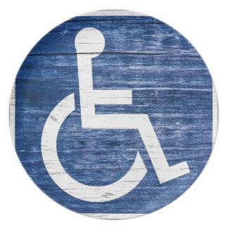 International Symbol of Access Melamine Plate