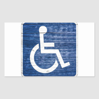 International Symbol of Access Rectangular Sticker