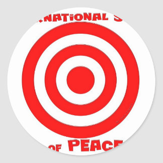 International Symbol of Peace Classic Round Sticker