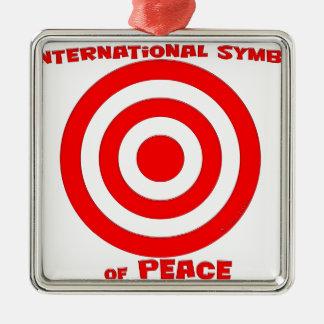 International Symbol of Peace Metal Ornament