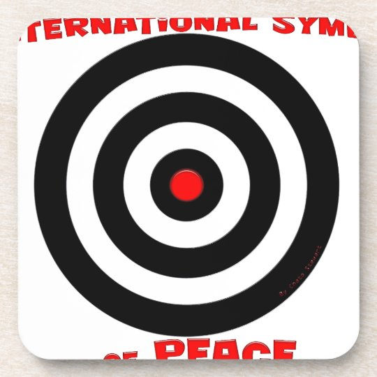 International Symbol of peace - Peace On Earth Beverage Coaster