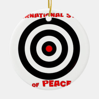 International Symbol of peace - Peace On Earth Ceramic Ornament