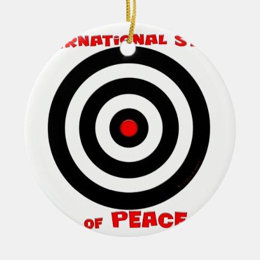 International Symbol of peace - Peace On Earth Ornament