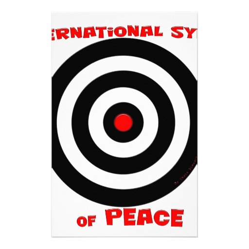 International Symbol of peace - Peace On Earth Stationery Paper