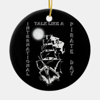 International Talk like a Pirate Day Double-Sided Ceramic Round Christmas Ornament