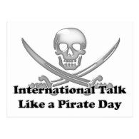 International Talk Like a Pirate Day Postcard