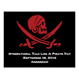 International Talk Like A Pirate Day Poster 2014