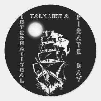 International Talk like a Pirate Day Round Stickers