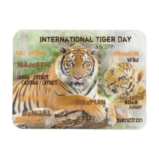 International Tiger Day, July 29, Typography Art Magnet
