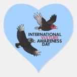 International Vulture Awareness Day Heart Sticker