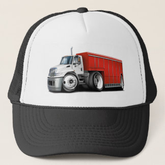 International White-Red Delivery Truck Trucker Hat