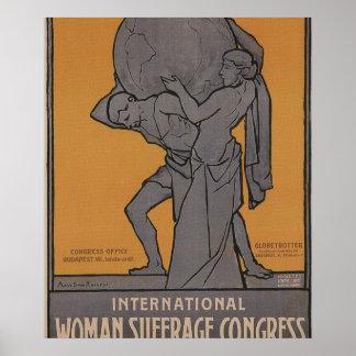 International Woman Suffrage Propaganda Poster