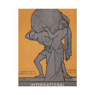 International Woman Suffrage Propaganda Poster Canvas Print