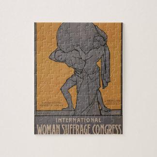 International Woman Suffrage Propaganda Poster Jigsaw Puzzle