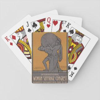 International Woman Suffrage Propaganda Poster Playing Cards