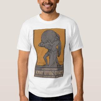 International Woman Suffrage Propaganda Poster T-shirt