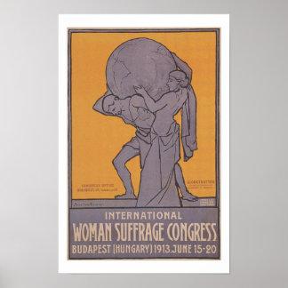 International Women Suffrage Congress Poster