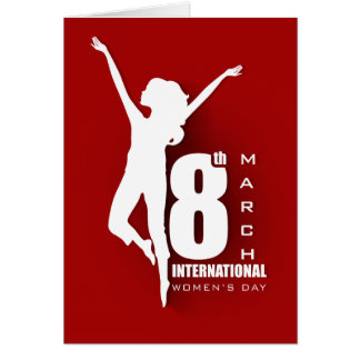 International Women's Day 8th Red Customize Card