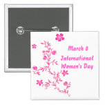 International Women's Day Button
