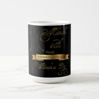 International Women's Day Elegant Gold Customize Coffee Mug