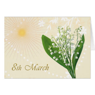 International Women's Day, Lily of the valley flow Card