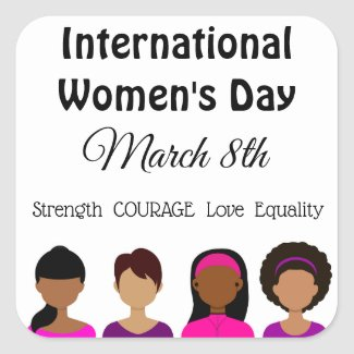 International Women's Day March 8th Stickers