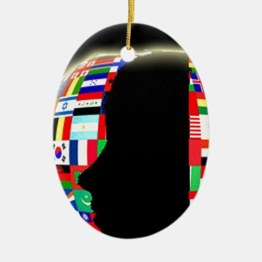 International World Flags Ceramic Ornament