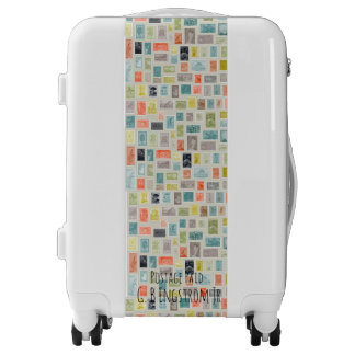 INTERNATIONAL WORLD WIDE DELIVERY STAMPED TEMPLATE LUGGAGE