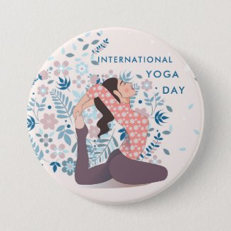 International Yoga Day Button