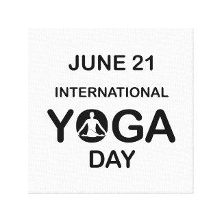 International yoga day june 21 canvas print