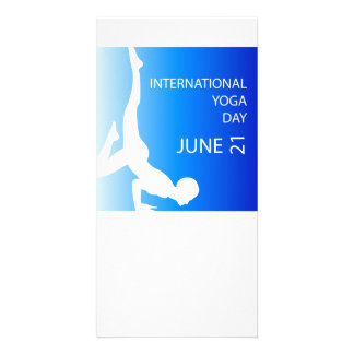 International yoga day june 21 card