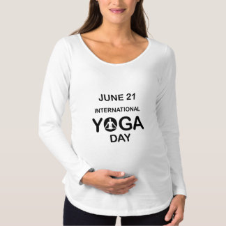 International yoga day june 21 maternity T-Shirt