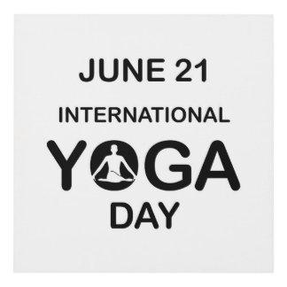 International yoga day june 21 panel wall art