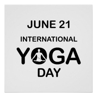 International yoga day june 21 poster