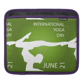 International yoga day june 21 sleeve for iPads