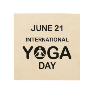 International yoga day june 21 wood wall decor