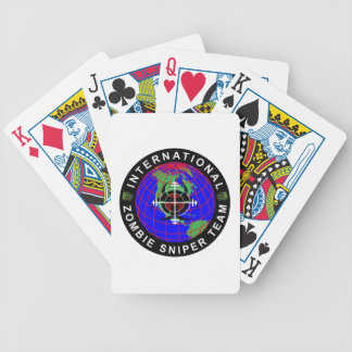 International Zombie Sniper Team Playing Cards