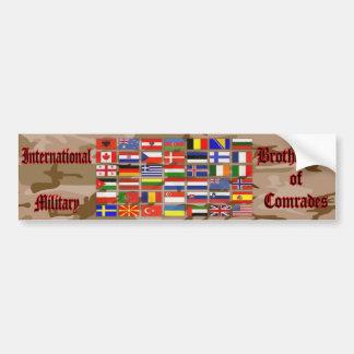 Internationally Military Bumper Sticker