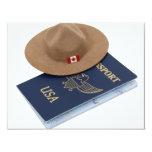 "InternationalTravels053009 4.25"" X 5.5"" Invitation Card"
