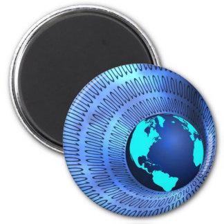 Internet 2 Inch Round Magnet