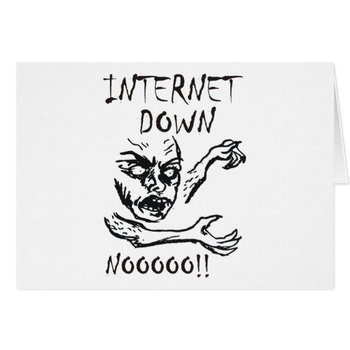 Internet abajo.  ¡NOOOO! Tarjeta