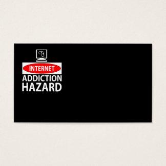 Internet – addiction hazard business card