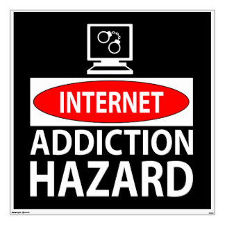 Internet – addiction hazard wall decal