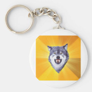 Internet animal Meme del consejo del lobo del valo Llavero Redondo Tipo Pin