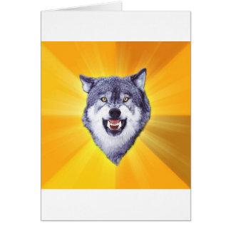 Internet animal Meme del consejo del lobo del valo Tarjeta De Felicitación