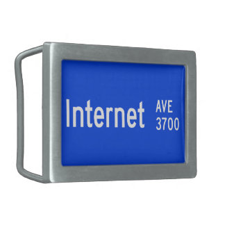 Internet Avenue, Street Sign, Nevada, US Rectangular Belt Buckles