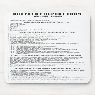 Internet Butthurt report form Mousepad
