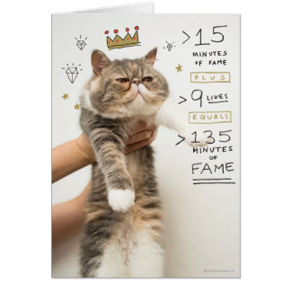 Internet Cat Celeberity Card